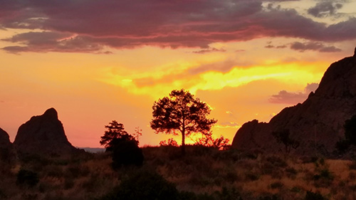 Sunset at Chisos Lodge
