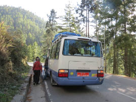 The Road to Punakha