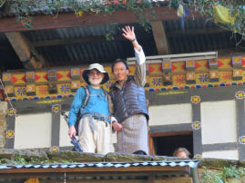 Bill and Karma at Tiger's Nest
