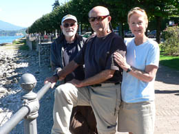 Bill, Steve and Daira in Stresa