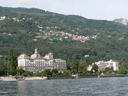The Grand Hotel from Lake Maggiore