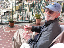 Bill relaxing on our terrace