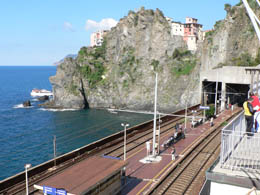 Train station at Manarola