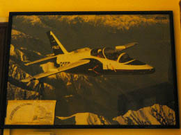 Picture of jet fighter in our room