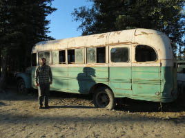 "Matt with ""Into the Wild"" Bus"