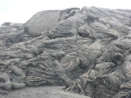 Twisted lava mounds