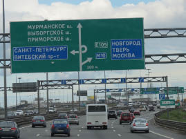 Arriving in St. Petersburg