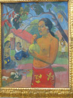 Paul Gauguin – 1893 – Woman Holding a Fruit – simple pleasures of life
