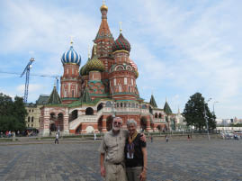 In front of St. Basil's